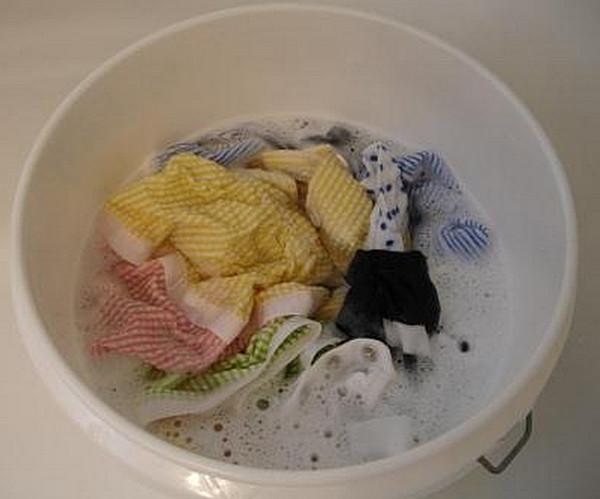 Замачивание полотенец